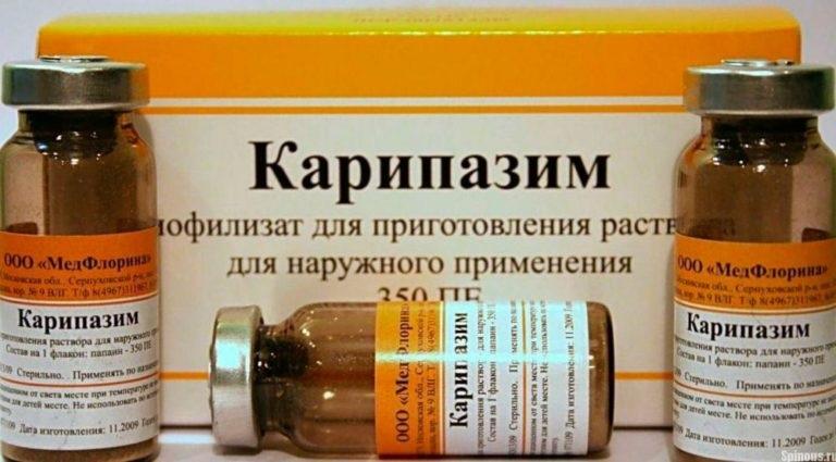 Лечение межпозвоночной грыжи карипазимом - Позвонок