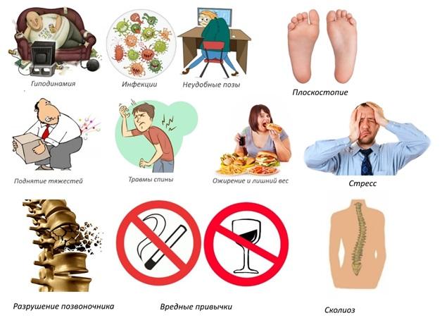 Каковы основные факторы риска заболевания остеохондрозом