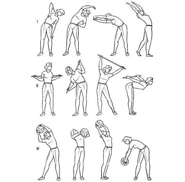 Упражнения с палкой при шейно грудном остеохондрозе